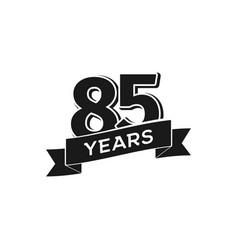 85 years anniversary logotype isolated vector image vector image