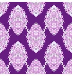 Floral leaf violet lotus indian paisley ornament vector