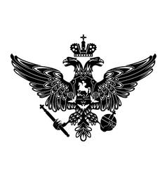 heraldic eagle emblem vector image