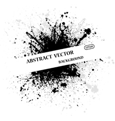 Ink blots text bacground vector image