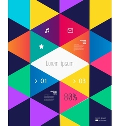 Modern Bright colorful background vector image
