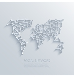 modern social network light concept vector image