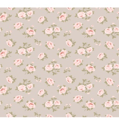 Seamless pattern with little roses vector image vector image