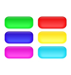 Set of colored glass buttons vector image