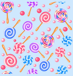 Stock seamless background of sweet fruit candy vector