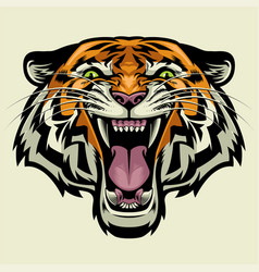 angry tiger head vector image
