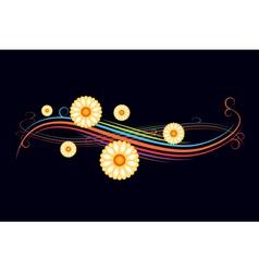 Gentle flower border vector image