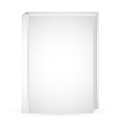 White mock up book vector image