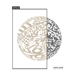 3d decorative line art globe for layout design in vector