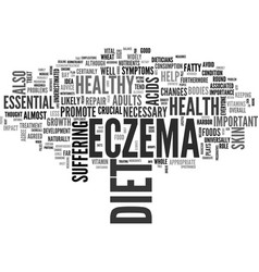 a healthy diet can help clear up your eczema text vector image