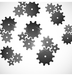 Abstract background cogwheel vector