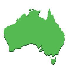 australia map silhouette australian continent vector image
