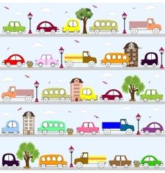 Baby vehicle pattern design vector