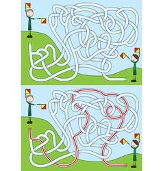 Boy scout maze vector image