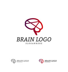 brain logo template brain logo concepts vector image