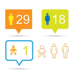 Bubble talk with human icons and number eps10 vector