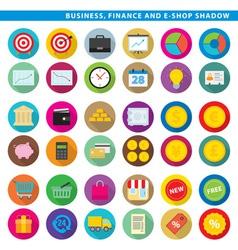 business finance e shop shadow vector image