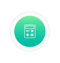 calculator icon sign vector image