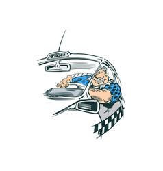 car driver cartoon vector image