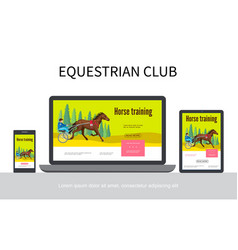 cartoon equestrian sport adaptive design concept vector image