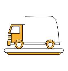 cartoon transport truck vector image