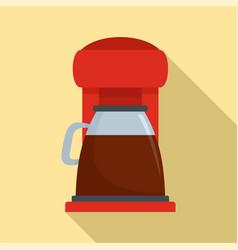 Classic coffee machine icon flat style vector