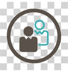 Clients Flat Rounded Icon vector