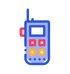 Climbing gps assistant device alpinism icon vector
