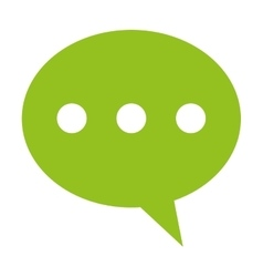 conversation bubble with dots icon vector image
