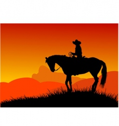 Cowboy vector