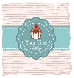 Cute cupcake gift card vector