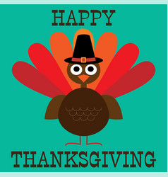 cute thanksgiving turkey graphic vector image