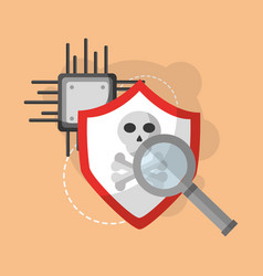 Cyber security concept vector
