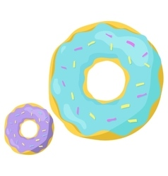 Fast food donuts icon vector