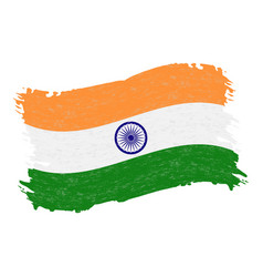 Flag of india grunge abstract brush stroke vector