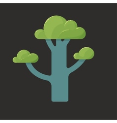 Flat icon of a tree in spring vector image