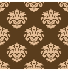 Floral seamless pattern with beige flowers vector image