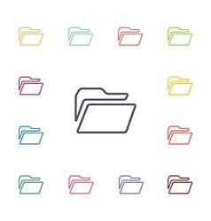 folder flat icons set vector image