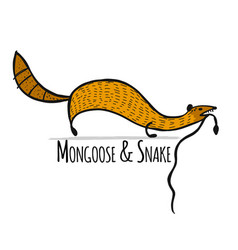 Funny mongoose sketch for your design vector