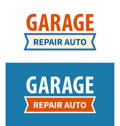 garage - repair auto service signboard on white vector image