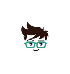 Geek head logo vector