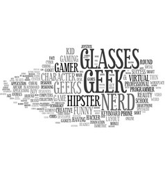 Geeks word cloud concept vector
