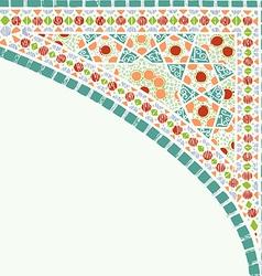 Geometric corner frame pattern ethnic colorful vector