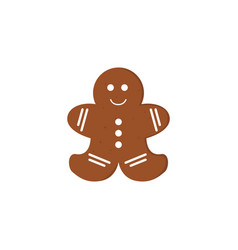 gingerbread christmas cookies funny decorated vector image