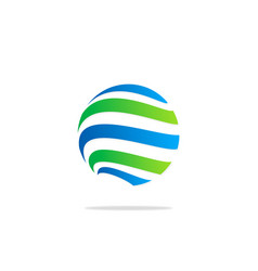 globe line sphere absract technology logo vector image