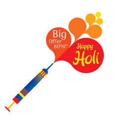 happy holi festival offer banner design vector image