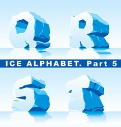 Ice alpfabet part 5 vector
