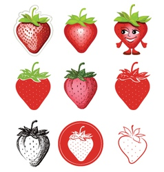 Icon of strawberries vector