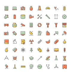 Icons for science technology and medical vector