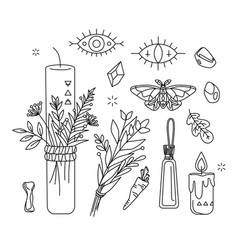 Isolated symbol shaman herbal healer wicca vector